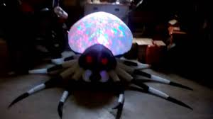 gemmy halloween inflatable 8ft kaleidoscope spider youtube