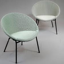 Lloyd Loom Bistro Chair A Pair Of Lloyd Loom Lusty Lounge Chairs Ca 1958 Made Of Basket