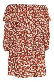 floral bardot dress by glamorous topshop