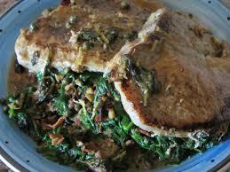 cuisine plus dijon spinach stuffed pork chops with lemon dijon caper sauce the