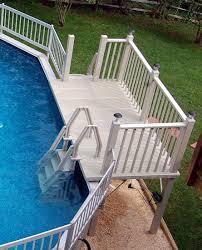 swimming pool decks above ground designs backyard design ideas