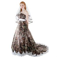 camo dresses for weddings realtree camo a line bridal dress with trimmed in lace