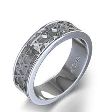 mens wedding rings nz of david wedding ring in 14k white gold