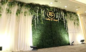 wedding backdrop grass ines weddings event decoration 婚宴場地佈置 宴會佈置