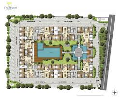 apartments courtyard plan courtyard plans hacienda style house