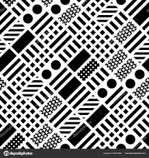 decorative geometric shapes tiling monochrome irregular pattern
