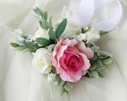 White Corsages For Prom Prom Corsage Etsy