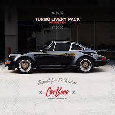 porsche ducktail porsche 930 turbo script body decals livery pack car bone pl