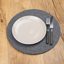 placemats for round table felt place mats round table mats sets circle felt leather
