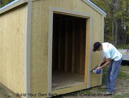 Exterior Shed Doors How To Install Exterior Trim Around The Shed Door Shed