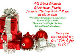fancy invitation to church christmas party 29 for picture design