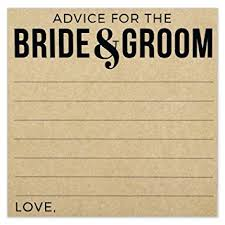 Advice Cards For Bride Amazon Com Wedding Advice Cards Advice For The Bride And Groom