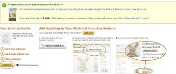www wish list how to set up an wish list for churches
