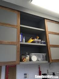 easy diy sliding doors for cabinets sawdust
