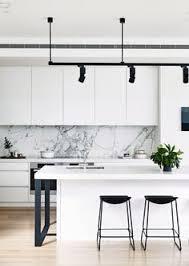 Kitchen Design Black And White Black And White Contrast Kitchen Splashback Glass Shown By