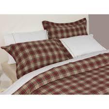 design port winton red and beige tartan plaid brushed cotton duvet