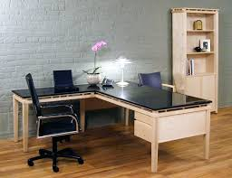 desk wooden l shaped desk with hutch industrial l shaped desk