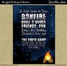 bonfire party invitation bonfire birthday fall birthday invite