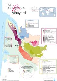 Wine Map Of France by Bordeaux Wines The Vineyard Appellations Map Bordeaux Wines