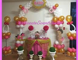 appealing pink and gold princess baby shower decorations 54 about