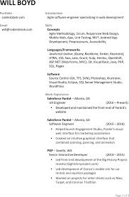 One Year Experience Resume Format For Net Developer Sample Front End Developer Resume Free Resume Example And