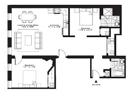 apartement trendy 2 bedroom luxury apartment floor plans