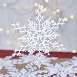 snow snowflakes glitter and winter crafts