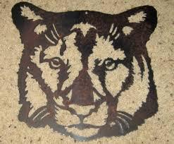 cougar metal art wildlife safari art mountain lion steel