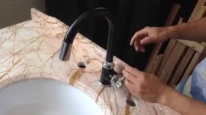 Led Kitchen Faucet by How To Install Fix A Led Kitchen Faucet Black Paintin Kitchen Sink