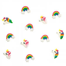 unicorn cake topper unicorn rainbow edible cake toppers candle cake party shop