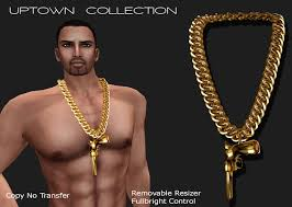 man necklace gift images Second life marketplace exquisite uptown man 39 s swag necklace jpg