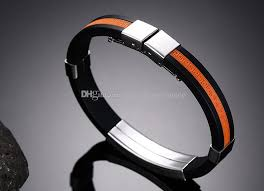 fashion bracelet silicone images Men fashion titanium steel silicone bracelet great wall design jpg