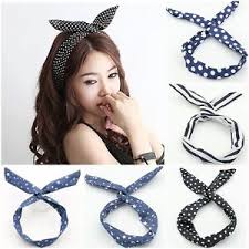 fashion multicolor korean girl bunny ear headband rabbit ear