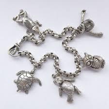 solid sterling silver charm bracelet images Charming vintage solid sterling silver charm bracelet articulated jpg