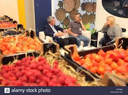 fruit displays berlin germany fruit displays and visitors at an exhibition