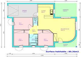 plan maison 3 chambres plain pied chambre plan de maison 3 chambres salon meilleures idées de