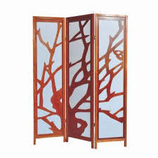 room division divider with solid wooden frame and rice paper panel