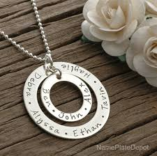 childrens name necklace personalized eternity pendant upto 7 names at nameplatedepot