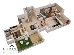 3d house floor plans 3d floor plans cut section luminie studio