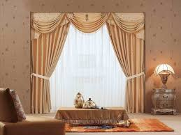 interior design modern 2 panel living room curtain in white color