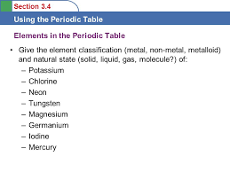 Tungsten Periodic Table Objectives To Learn Some Features Of The Periodic Table Ppt