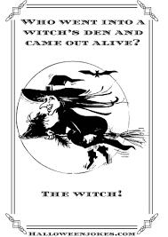 black and white halloween joke cartoon witch1 cpal
