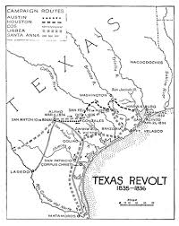 Fill In The Blank Us Map by Texas Revolution The Handbook Of Texas Online Texas State
