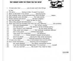 preposition worksheet ii