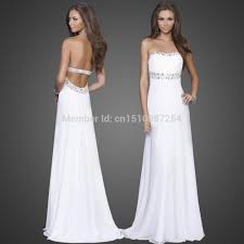 suggestions to get cute white prom dress backless mia blog