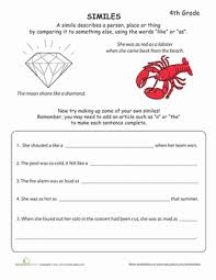 simile worksheets for kids mreichert kids worksheets