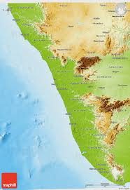 Geographical Map Of India by Physical 3d Map Of Kerala