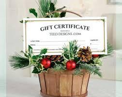 custom gift certificate etsy