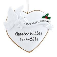 personal creations personalized in our hearts forever ornament