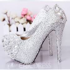 wedding shoes luxurious silver closed toe stiletto wedding shoes